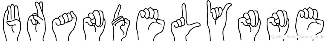 Brandelynne im Fingeralphabet der Deutschen Gebärdensprache
