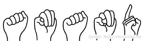Amand im Fingeralphabet der Deutschen Gebärdensprache