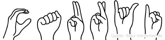 Cauryi im Fingeralphabet der Deutschen Gebärdensprache