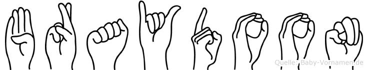 Braydoon in Fingersprache für Gehörlose