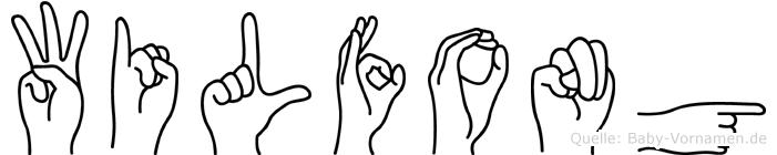 Wilfong im Fingeralphabet der Deutschen Gebärdensprache