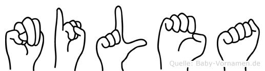 Nilea im Fingeralphabet der Deutschen Gebärdensprache