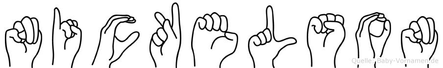 Nickelson in Fingersprache für Gehörlose