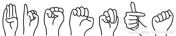 Bisenta im Fingeralphabet der Deutschen Gebärdensprache