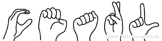 Cearl im Fingeralphabet der Deutschen Gebärdensprache