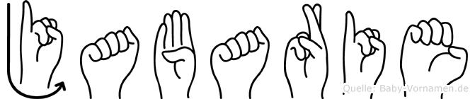 Jabarie im Fingeralphabet der Deutschen Gebärdensprache