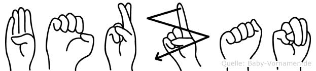 Berzan in Fingersprache für Gehörlose