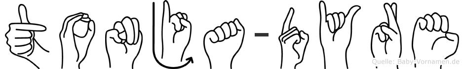 Tonja-Dyre im Fingeralphabet der Deutschen Gebärdensprache