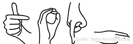 Toph im Fingeralphabet der Deutschen Gebärdensprache