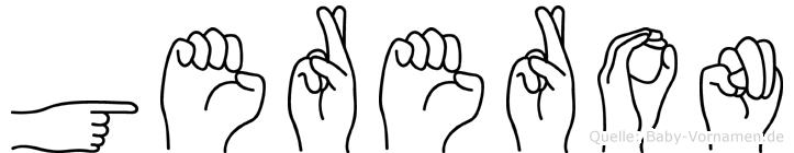 Gereron im Fingeralphabet der Deutschen Gebärdensprache