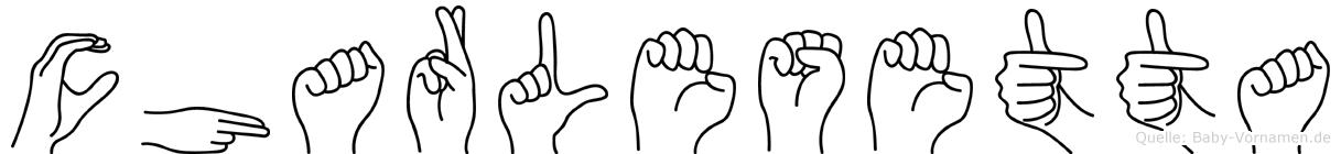 Charlesetta im Fingeralphabet der Deutschen Gebärdensprache