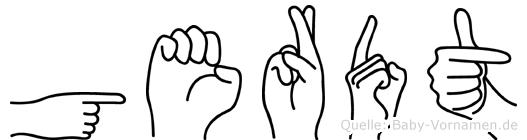 Gerdt im Fingeralphabet der Deutschen Gebärdensprache