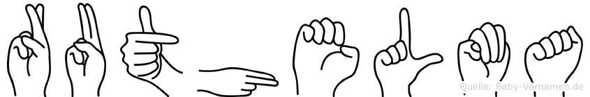 Ruthelma in Fingersprache für Gehörlose