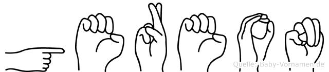 Gereon im Fingeralphabet der Deutschen Gebärdensprache