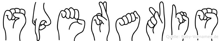 Sperakis in Fingersprache für Gehörlose