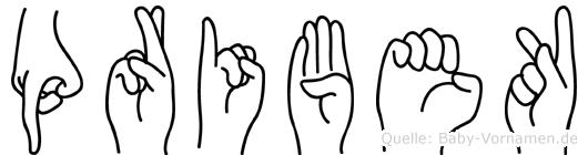 Pribek in Fingersprache für Gehörlose