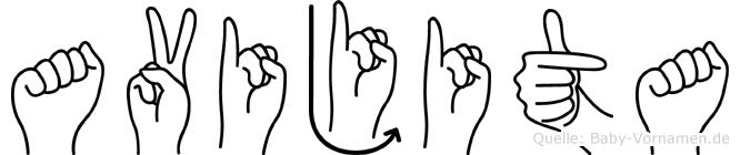 Avijita im Fingeralphabet der Deutschen Gebärdensprache