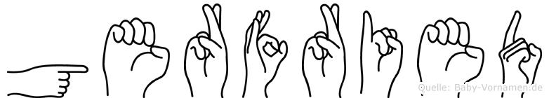 Gerfried im Fingeralphabet der Deutschen Gebärdensprache