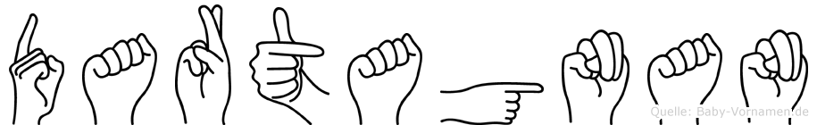 Dartagnan im Fingeralphabet der Deutschen Gebärdensprache