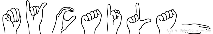 Mycailah in Fingersprache für Gehörlose