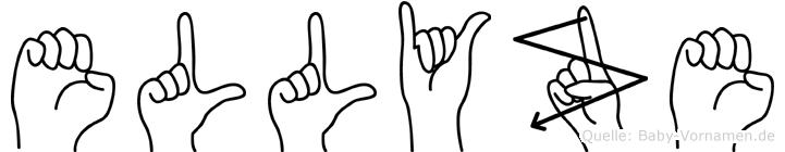 Ellyze im Fingeralphabet der Deutschen Gebärdensprache