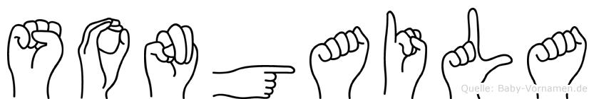 Songaila im Fingeralphabet der Deutschen Gebärdensprache