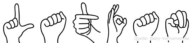 Latfan in Fingersprache für Gehörlose