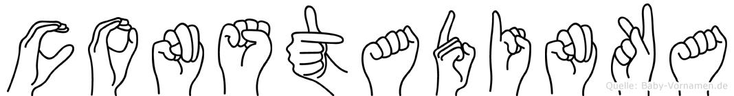 Constadinka im Fingeralphabet der Deutschen Gebärdensprache