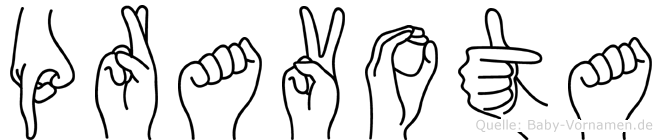 Pravota im Fingeralphabet der Deutschen Gebärdensprache