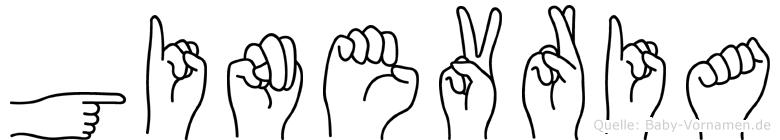 Ginevria im Fingeralphabet der Deutschen Gebärdensprache