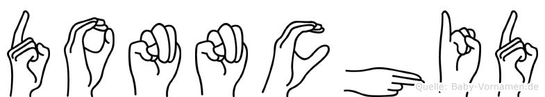 Donnchid im Fingeralphabet der Deutschen Gebärdensprache