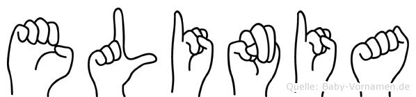 Elinia im Fingeralphabet der Deutschen Gebärdensprache