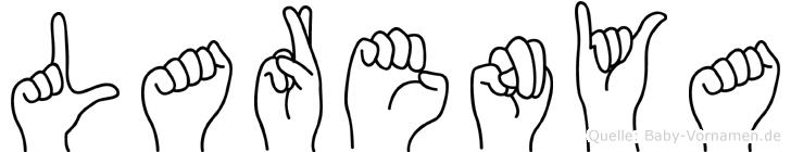 Larenya im Fingeralphabet der Deutschen Gebärdensprache