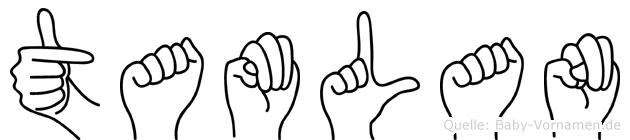 Tamlan im Fingeralphabet der Deutschen Gebärdensprache