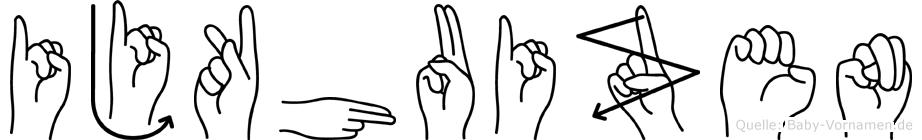 Ijkhuizen im Fingeralphabet der Deutschen Gebärdensprache
