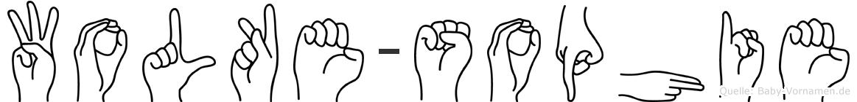 Wolke-Sophie im Fingeralphabet der Deutschen Gebärdensprache