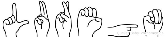 Luregn im Fingeralphabet der Deutschen Gebärdensprache
