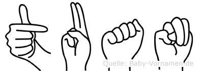 Tuan in Fingersprache für Gehörlose