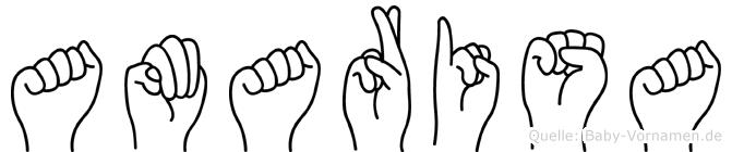 Amarisa im Fingeralphabet der Deutschen Gebärdensprache