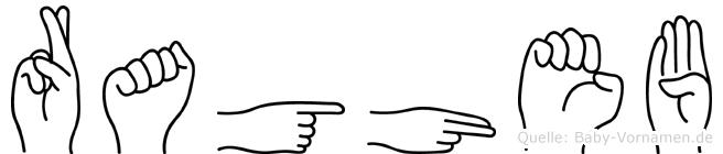 Ragheb im Fingeralphabet der Deutschen Gebärdensprache