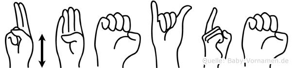 Übeyde im Fingeralphabet der Deutschen Gebärdensprache