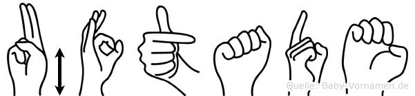 Üftade in Fingersprache für Gehörlose