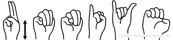 Ümniye in Fingersprache für Gehörlose