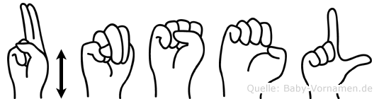 Ünsel im Fingeralphabet der Deutschen Gebärdensprache