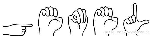 Gemel im Fingeralphabet der Deutschen Gebärdensprache