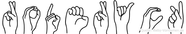 Roderyck in Fingersprache für Gehörlose