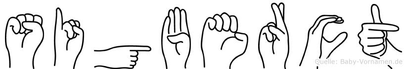 Sigberct in Fingersprache für Gehörlose