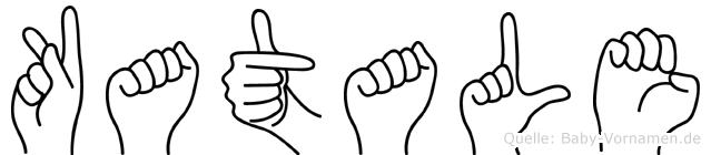 Katale im Fingeralphabet der Deutschen Gebärdensprache
