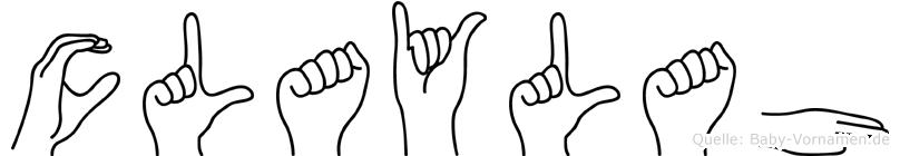 Claylah in Fingersprache für Gehörlose