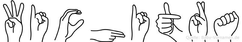 Wichitra im Fingeralphabet der Deutschen Gebärdensprache